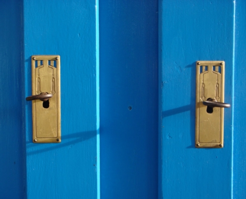 Sideboard blau